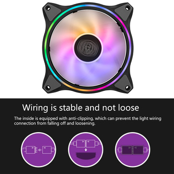 High Quality MF140 12V/4PIN PC Computer Case CPU Cooling Fan Addressable PWM RGB Lighting Cooler Radiator Replaces Fans image