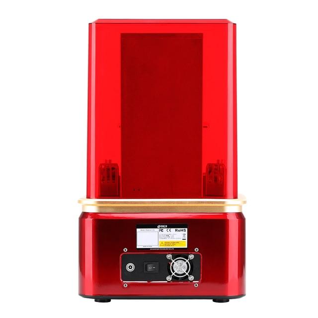 Qidi tecnologia sla/lcd 3d impressora sombra 5.5 s, impressora uv da resina do lcd com trilho duplo do forro da linha central de z, tamanho da construção 115*65*150mm 1