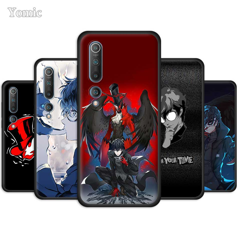 Black Case For Xiaomi Mi Note 10 9 SE 9T CC9 Pro 5G A3 A2 8 Lite Poco X2 Soft Silicone Phone Cover Persona 5 Joker