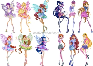 WINX IRON ON TRANSFER T SHIRT BLOOM TECNA FLORA MUSA STELLA LOT WXT(China)