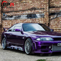 Car Exterior accessories Body kits For Nissan R33 Skyline GTS 400R Style FRP Fiber Black or White Unpainted Wheel Arches (6pcs)