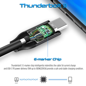 Image 3 - Thunderbolt 3 kabel 40 gb/s PD 5A 100W szybkie ładowanie USB C do C DisplayPort 4K 5K HD dla macbook Pro Air iMac USB C przewód ładowarki