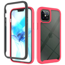 Shockproof Armor Case Voor Iphone 12 Mini 11 Pro Max Se 2020 Xs Xr X 6 7 8 Plus Clear back Cover Double Layer Hybrid Bumper Cases