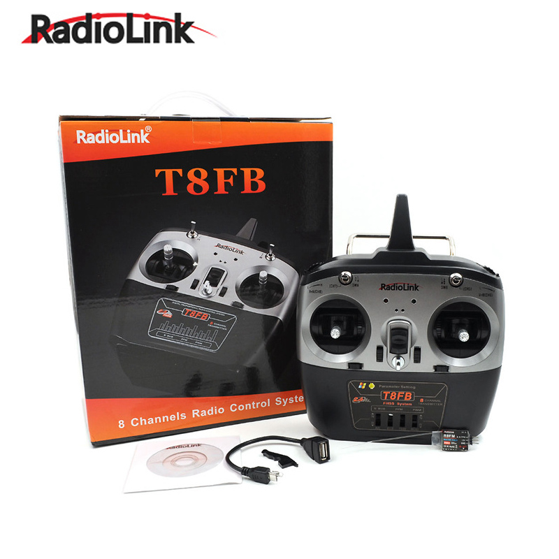 RadioLink T8FB 2.4GHz 8ch RC Transmitter R8EF Receiver Combo Remote Control for RC Helicopters DIY RC Quadcopter Plane F18738/9