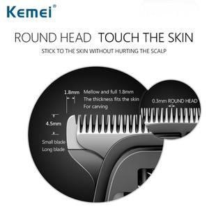 Image 3 - Kemei充電式バリカントリマー電気スリックバックプロのヘアトリマーかみそり毛切断機 40D