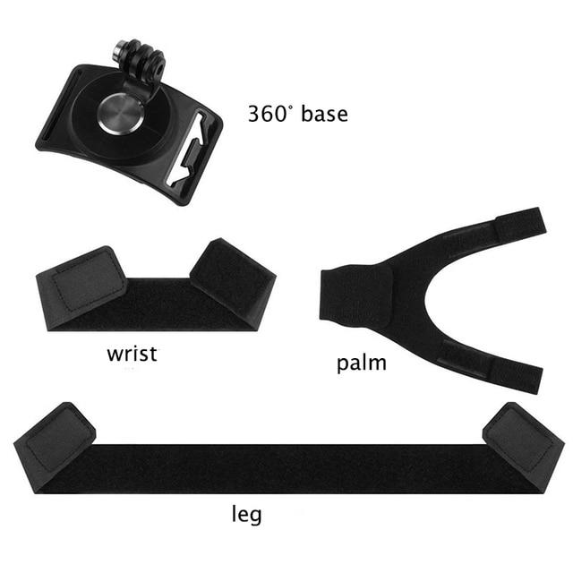 3 ב 1 360 תואר סיבוב יד יד לgopro גיבור 7 6 5 4 עבור Xiaomi יי 4k SJ4000 ללכת פרו יד הר מחזיק להקת רגל