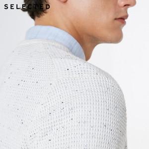 Image 4 - 選択された男性のカジュアルなプルオーバーのセーター O ネック新綿 100% 長袖ニット服 C
