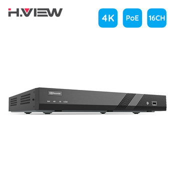H.View H.265 16ch 4K POE NVR cctv Security System 8MP Video Audio Recorder 48V Network Surveillance for poe ip camera Onvif dahua nvr poe 4k 8mp 8 16 32ch nvr4208 8p 4ks2 nvr4216 16p 4ks2 nvr4232 16p 4ks2 sata for ip camera cctv security support onvif