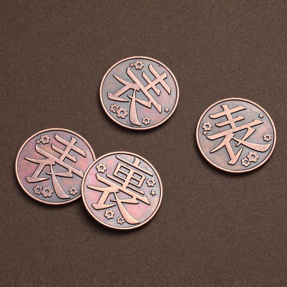 H861457a244ee4dceb5fb47651d527c29m Moeda Anime demon slayer moeda cosplay kimetsu no yaiba tsuyuri kanawo kochou shinobu coletar liga de metal moedas tokens coleção adereços