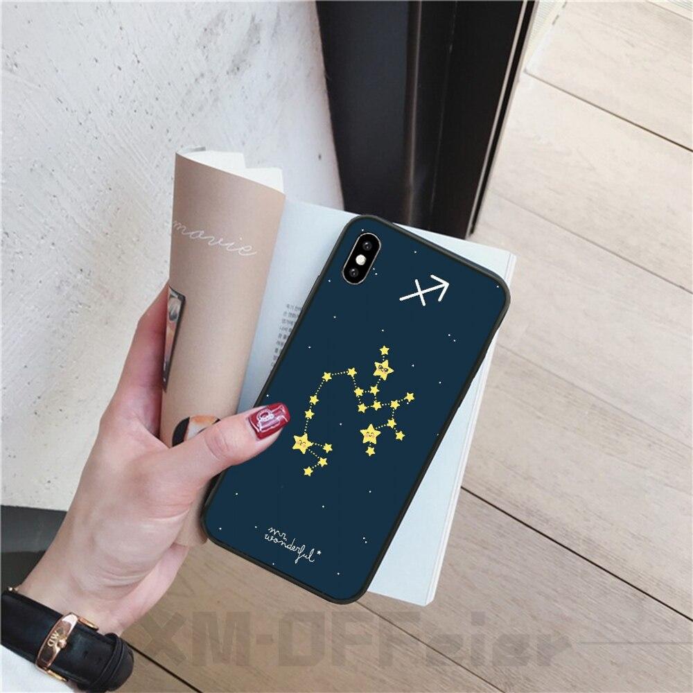 Viviana Zodíaco de constelaciones signos suave de TPU cubierta de la caja del teléfono de silicona para iPhone 11 pro XS MAX 8 7 6 6S Plus X 5 5S SE XR cubierta