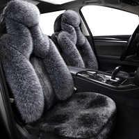 Alta Qualidade Longa Lã Faux Muito Tampas de Assento Do Carro Universal para BMW E46 F10 E30 E90 E34 E39 F30 E60 f11 X3 E83 X5 E53 F20