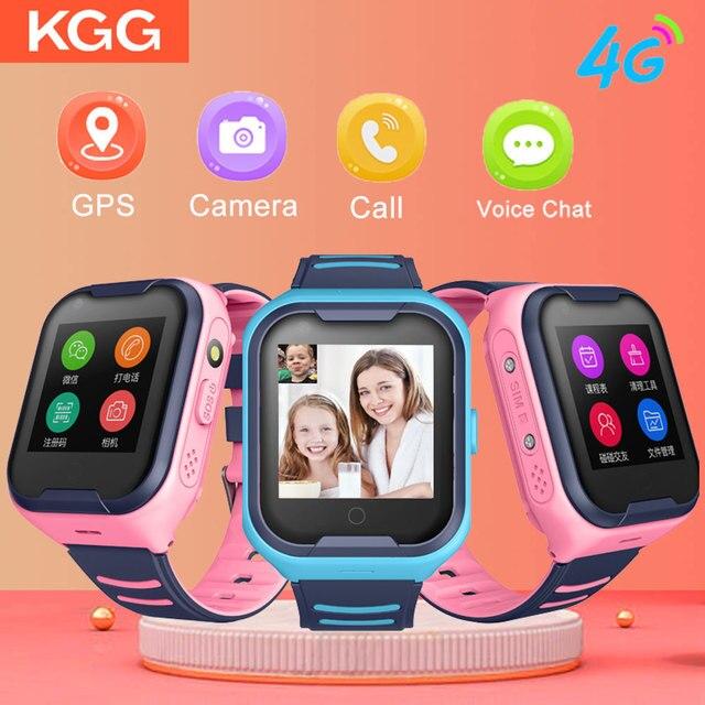 Crianças relógio inteligente crianças 4g wifi gps tracker criança relógio de telefone digital sos alarme relógio da câmera do telefone para crianças pk q90
