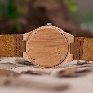 Image 5 - BOBO BIRD zegarki bambusowe dla mężczyzn kwarcowe męskie zegarki na rękę часы мужские montre homme męskie zegarki zegary Dropshipping