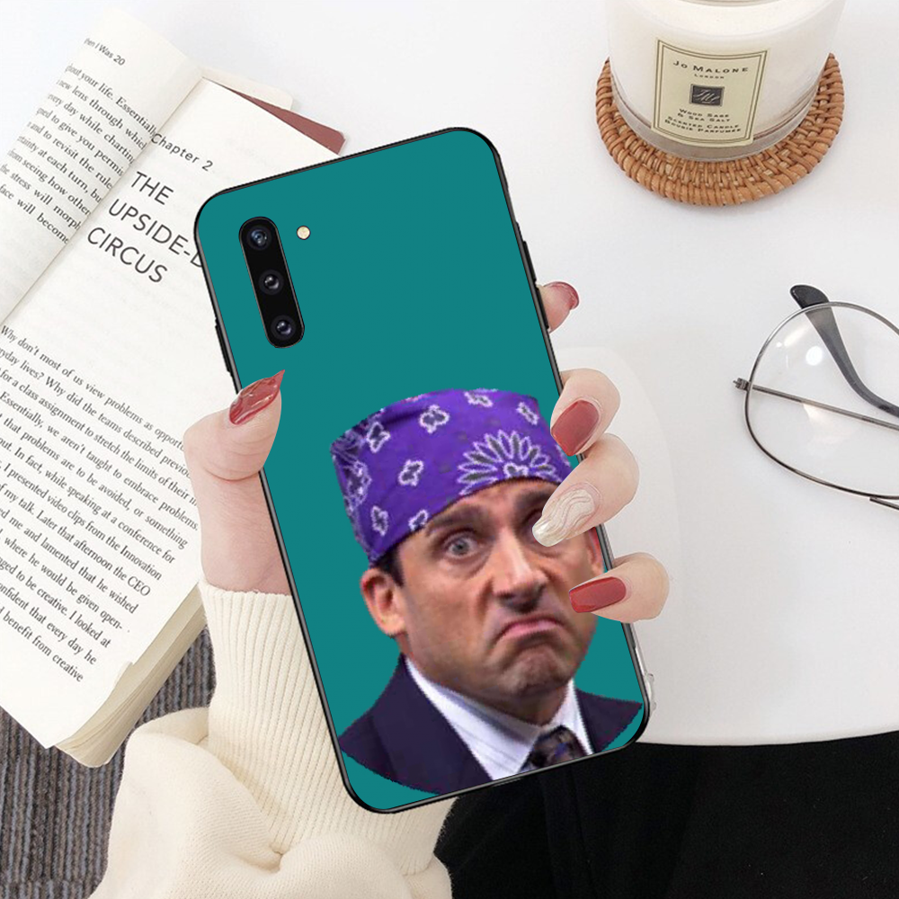 Nbdruicai Kantor TV Menunjukkan Apa Yang Dia Bilang Bling Phone Case untuk Samsung Note 3 4 5 6 7 8 9 10 Pro A7 2018 A10 A40 A50 A70 J7 2018