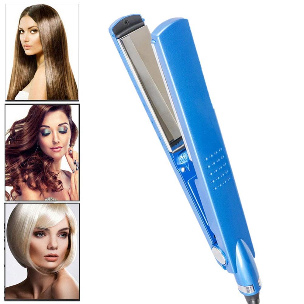 Nano Titanium 450F Temperature Hair Flat Iron Blue 11/4 Fast Heating Salon Straight Hair Iron Professional Hair Straightener
