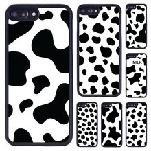 MaiYaCa Cute Black and White Cow spots Pattern Phone Case For iPhone 5 6 7 8 plus 11 Pro X XR XS Max Samsung Galaxy S7 S8 S9 S10(China)