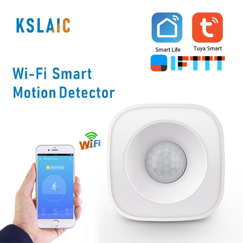 SmartLife Wifi PIR Motion Sensor Wireless Infrared Detector Tuya Smart APP Control For Home Security Burglar Alarm Sensor