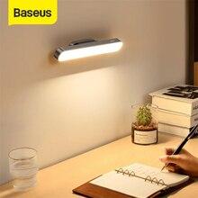 Baseus manyetik LED masa lambası çalışma için dolap ışığı USB şarj edilebilir kademesiz karartma şarj masa lambası