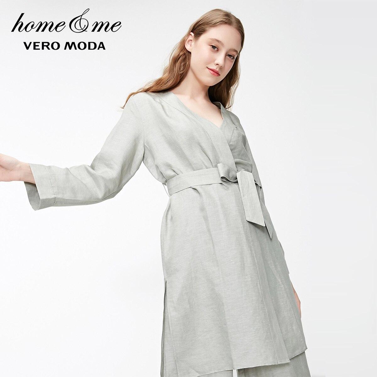 Vero Moda Women S Simple Linen Lace Up Lounge Wear Night Robe 3192r1504 Robes Aliexpress