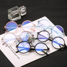 Women Glasses Frame Men Anti Blue Light Eyeglasses Frame Vintage Round Clear Lens Glasses Optical Spectacle Protection Eyewear