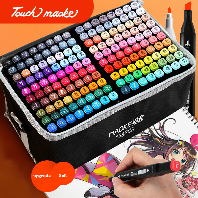 Genuine Touch Marker Set Color Art Students Animation Oil Pen Primary School Junior High School Painting Watercolor Marker