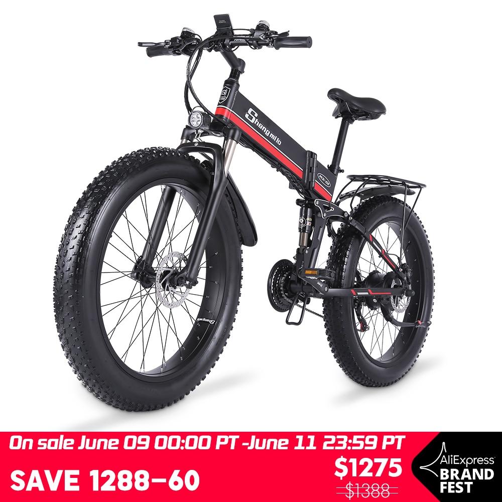 Bicicletta-elettrica-1000W-Fat-Tire-bici-elettrica-48V-adulto-ebike-Mountain-ciclismo-bicicletta-48V12-8AH-batteria Offerte Bici Elettriche 2021: 11° Anniversario Aliexpress