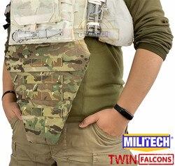 Militech Twinfalcons Tw 500D Delustered Cordura T Y R Tactische Lies Bescherming Mv Onderbuik Platform Pouch Lies Tas