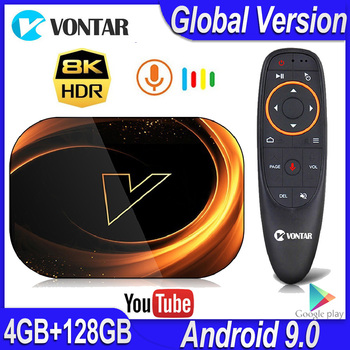 2020 VONTAR X3 4GB RAM 128GB ROM 8K Android Smart TV BOX Android 9.0 TVBOX Amlogic S905X3 2.4G 5G Wifi 4K Set Top Box 64GB 32GB