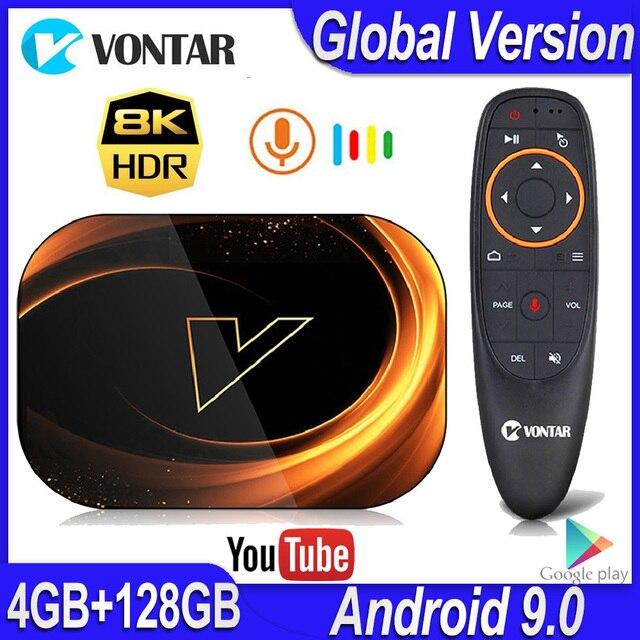 2020 VONTAR X3 4GB RAM 128GB ROM 8K אנדרואיד חכם טלוויזיה תיבת אנדרואיד 9.0 TVBOX Amlogic S905X3 2.4G 5G Wifi 4K ממיר 64GB 32GB