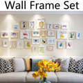 26Pcs Nordic style Wooden Photo Frame Set Picture Wall Hanging Decor Collage Large Multi Set Frames for Home Coffee Shop Decor