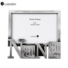 Alloy Photo Frames for Picture Paternal Grandmother Anniversary Picture Frame Decorative Scene Model Craft Gift (Silver) giftgarden 5x7 silver alloy classic crown photo frames vintage picture frame table decoration anniversary gift wedding decor