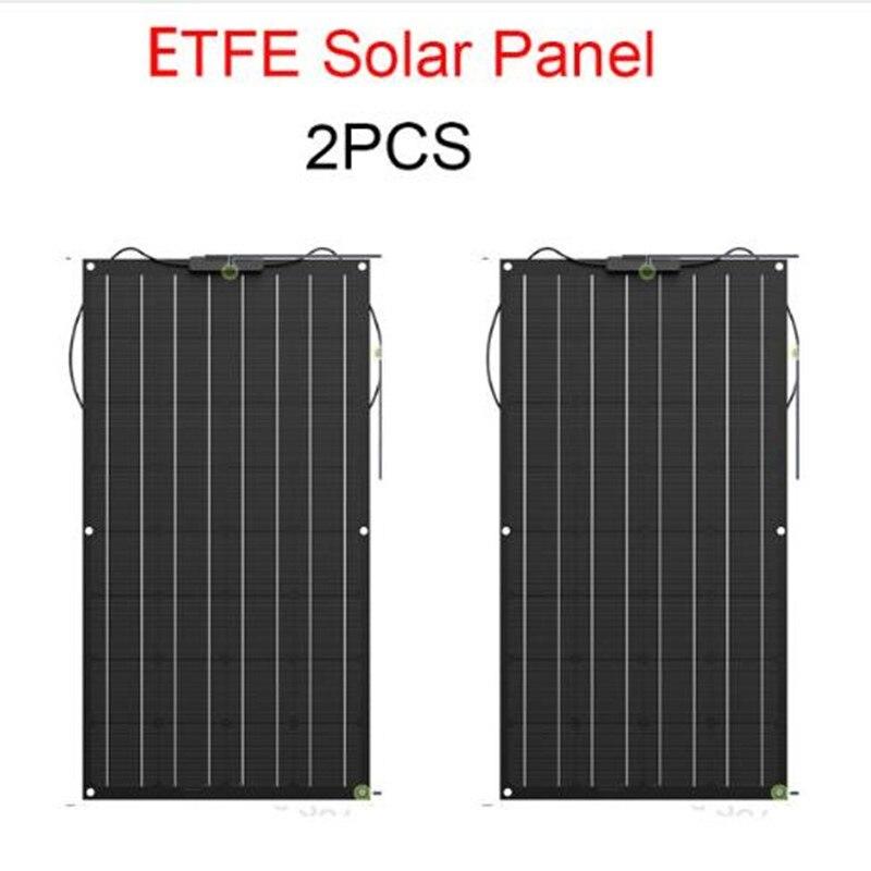 Солнечная панель 2x100 Вт Гибкая солнечная панель, 200 Вт Гибкая солнечная панель из ETFE материала
