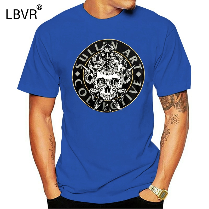 Sullen Collectivo Skull Wings Black Tattoo Artist Premium T Shirt S-3XL New UK