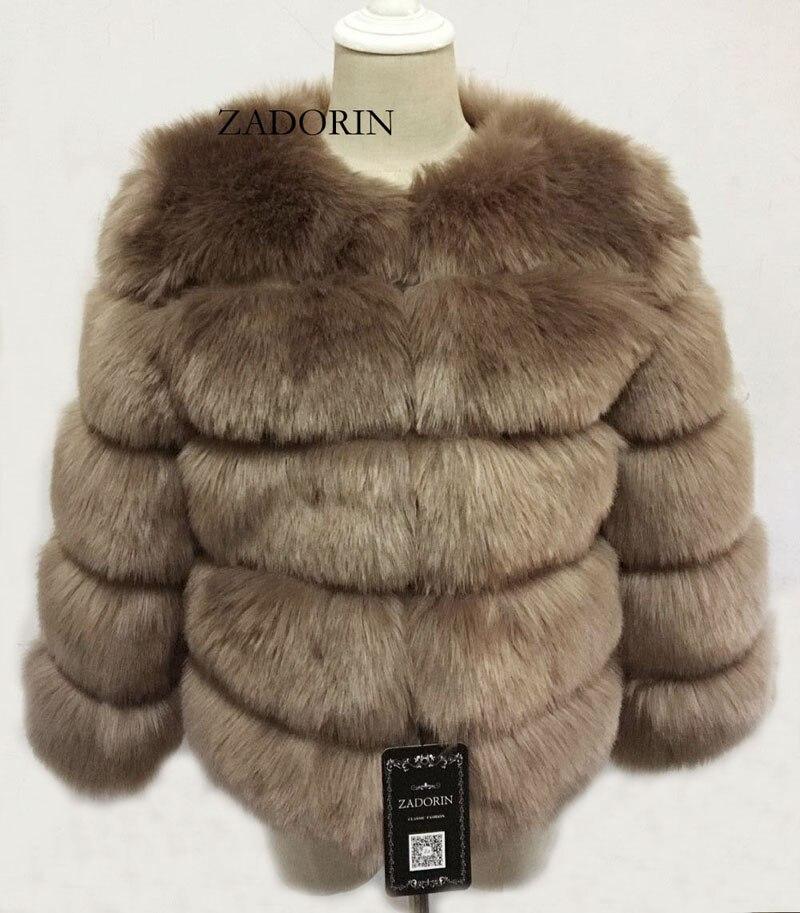 S-3XL Mink Coats Women 19 Winter Top Fashion Pink FAUX Fur Coat Elegant Thick Warm Outerwear Fake Fur Jacket Chaquetas Mujer 9