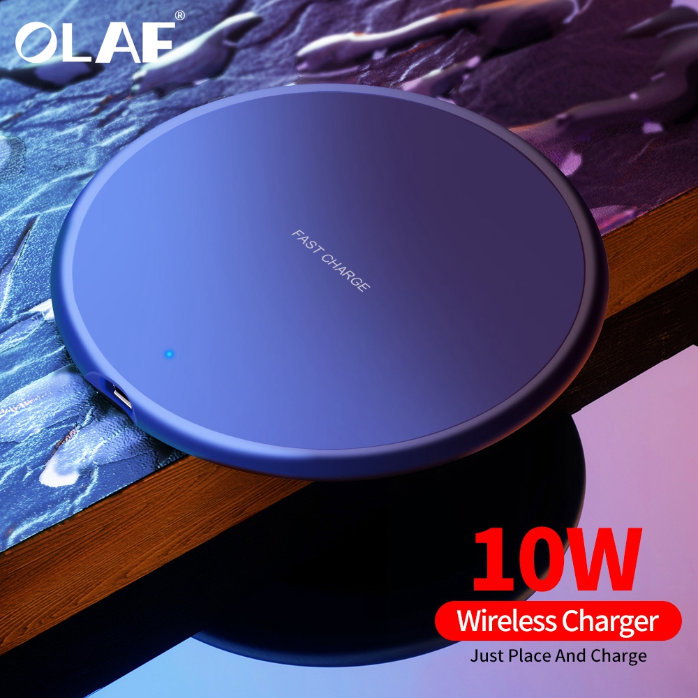 Olaf 10W Fast Wireless Charger For Samsung Galaxy S9/S9+ S10 S8 Note 8 USB Qi Charging Pad For IPhone 11 Pro XS Max XR X 8 Plus