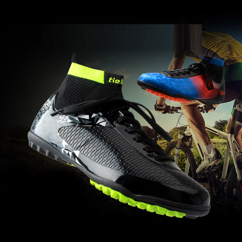 Men Road Bike Bicycle Shoes Anti-Slip Breathable Cycling Bootsnon-Locking High Ankle Racing Shoes Mtb Mountain Bike Sneakers