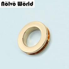 50pcs 6 colori 32.2*19.3*3.9 millimetri anello di tenuta oro occhiello in viti, borse accessori hardware in metallo rotonda rivetto occhielli