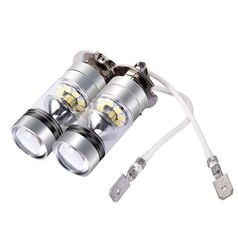 100W H3 светодиодный туман светильник дальнего света лампы 12/24V противотуманных фар фары 10000LM белый 6000 К автомобильный головной светильник авт...