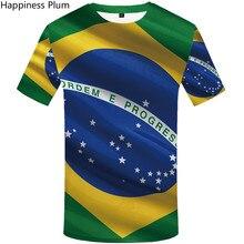 2019 Summer designer t shirt Brazilian flag Casual 3D print T-shirt Mens fashion shirts novelty tshirt
