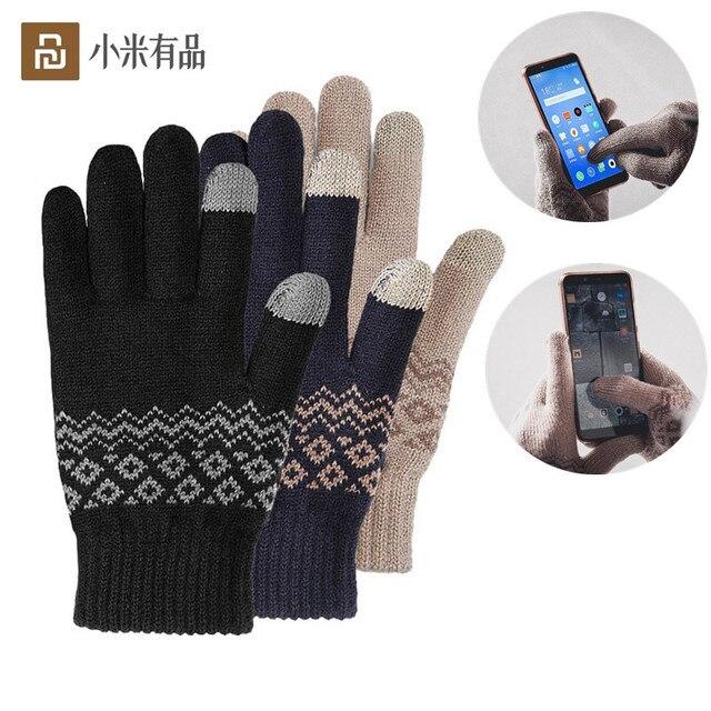 Xiaomi için parmak dokunmatik ekran eldiveni için kadın erkek kış sıcak kadife eldiven ekran tablet telefon doğum günü/noel hediyesi