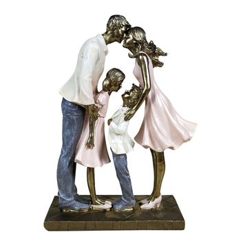 Holiday Family Sculpture Handmade Resin Statue 1