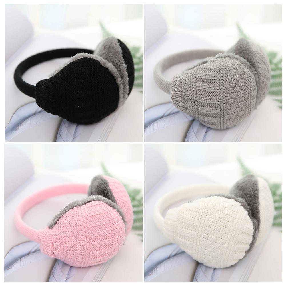 Winter Warm Knitted Earmuffs Removable Washable Earmuffs Ear Warmers Girls Plush Earmuffs For Ladies Women Men