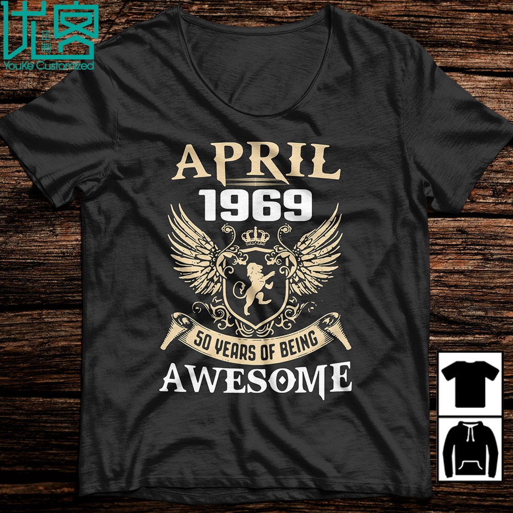 April 1969 50 Years Of Being Awesome 2020 Summer Men's Short Sleeve T-Shirt