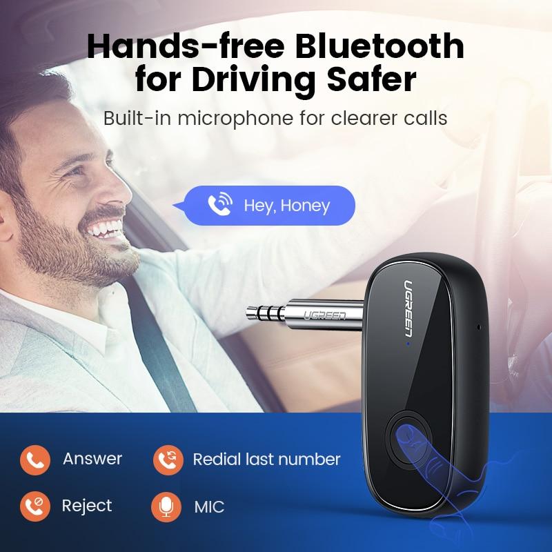 Ugreen Bluetooth Receiver 5.0 aptX LL 3.5mm AUX Jack Audio Wireless Adapter for Car PC Headphones Mic 3.5 Bluetooth 5.0 Receptor 5