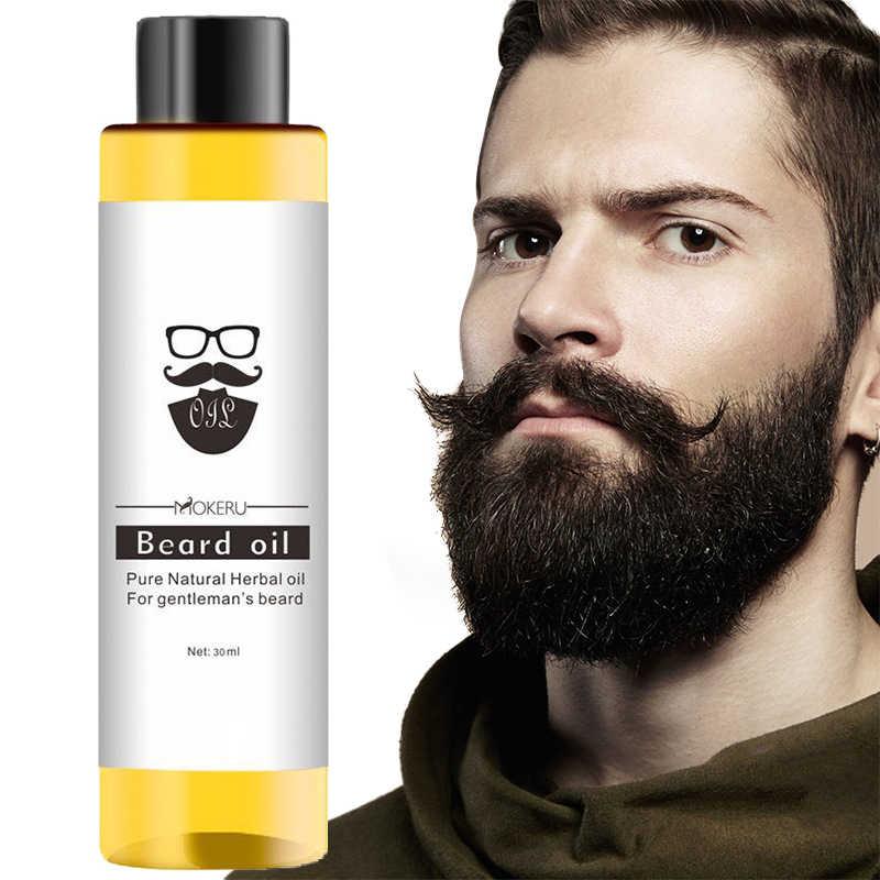 1 pc 30ml Mokeru 100% Organische Bart Öl haarausfall Produkte Spray Bart Wachstum Öl Für Wachstum Männer Bart wachsen Pro TSLM1