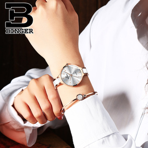 Image 5 - Switzerland BINGER Luxury Women Watch Brand Crystal Fashion Bracelet Watches Ladies Women Wristwatches Relogio Feminino B 1185 5