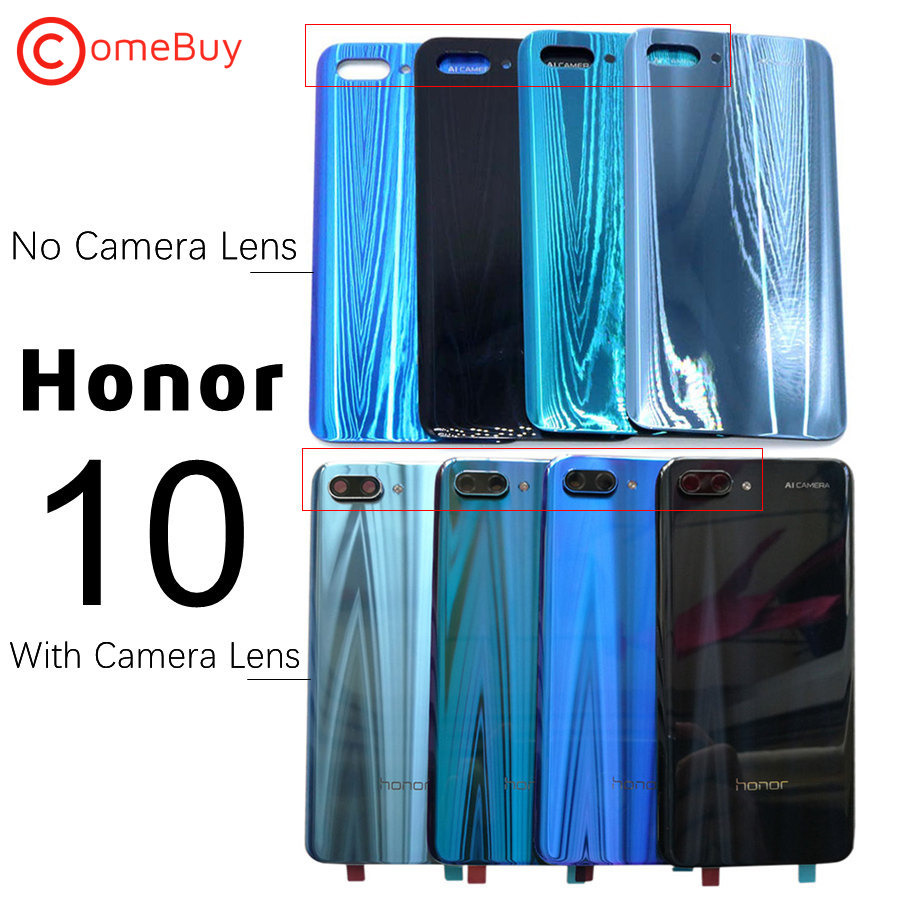 For Huawei Honor 10 Back Glass Cover Rear Window Battery Door Case Honor10 Back Panel With Camera Lens For Honor 10 Back Cover image