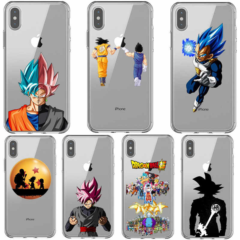 Dragon Ball Z Super DBZ Goku Mode Coque Voor iPhones X XR XS MAX 7 8 Plus 6 6s 5S SE Xs 11 Pro Telefoon Case Soft TPU Cover Capa