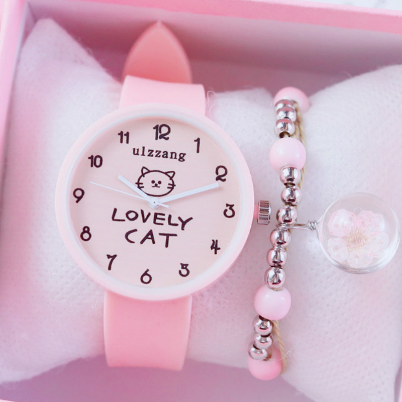 Children Watch  Girl Princess Pink Girl Jelly Lovely Soft Younger Kids Watches