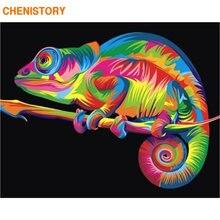 Картина на холсте Хамелеон chenistory рисование по номерам ручная
